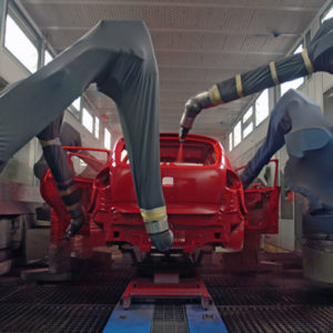 automatización de tratamiento de superficies: lavado, fosfatación, catafóresis, imprimación, pinturas, impermeabilización con ceras, hornos de secado y tratamiento térmico