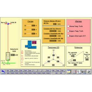 proyectos de automatización de infraestructuras de fábrica: distribución de potencia, monitorización de consumos, redes, iluminción eficiente, climatización con Scada